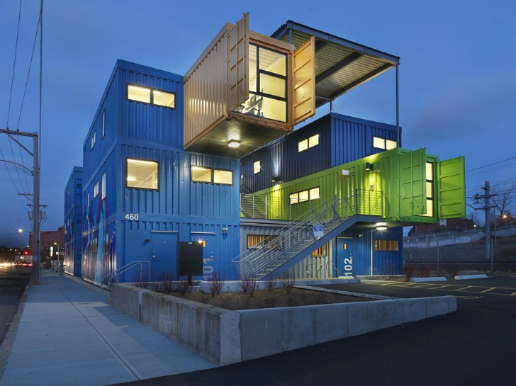 accomodation block rotterdam amazing build office